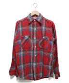WINTER KING(ウィンターキング)の古着「チェックネルシャツ」|レッド×ブルー