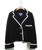 BLUE LABEL CRESTBRIDGE(ブルーレーベルクレストブリッジ)の古着「パイピングニットジャケット」|ブラック