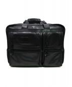 TUMI(トゥミ)の古着「レザーキャリーバッグ」|ブラック