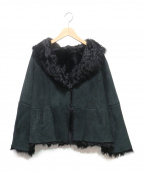 DAMA collection(ダーマコレクション)の古着「ムートン×ファージャケット」 ブラック