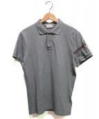 MONCLER(モンクレール)の古着「ラインポロシャツ」|グレー