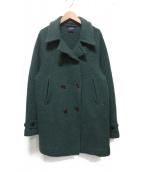 45R(フォーティファイブアール)の古着「フロート縮絨Pコート」|グリーン