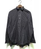 TICCA(ティッカ)の古着「ギンガムチェックスクエアビッグシャツ」|ネイビー×ホワイト