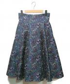 EPOCA THE SHOP(エポカ ザ ショップ)の古着「ボタニカルジャガードスカート」 マルチカラー