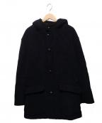GRENFELL(グレンフェル)の古着「ヴィンテージアルパカパイルライナーフーデッドコート」|ネイビー