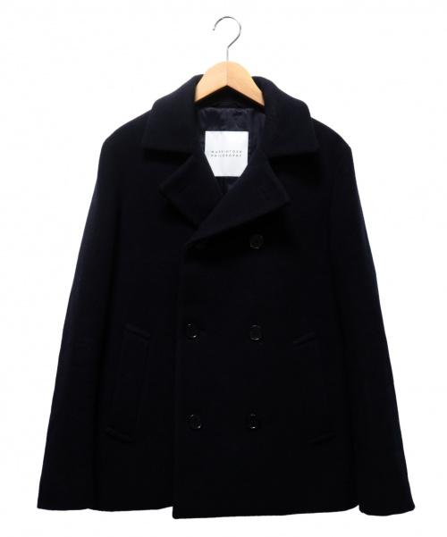 MACKINTOSH PHILOSOPHY(マッキントッシュフィロソフィー)MACKINTOSH PHILOSOPHY (マッキントッシュフィロソフィー) メルトンPコート ネイビー サイズ:Lの古着・服飾アイテム