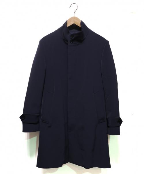 EDIFICE(エディフィス)EDIFICE (エディフィス) トリアセダブルクロススタンドコート ネイビー サイズ:Sの古着・服飾アイテム