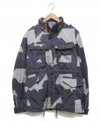 N.MASAKI COLORS()の古着「総柄M65ジャケット」 ネイビー×グレー