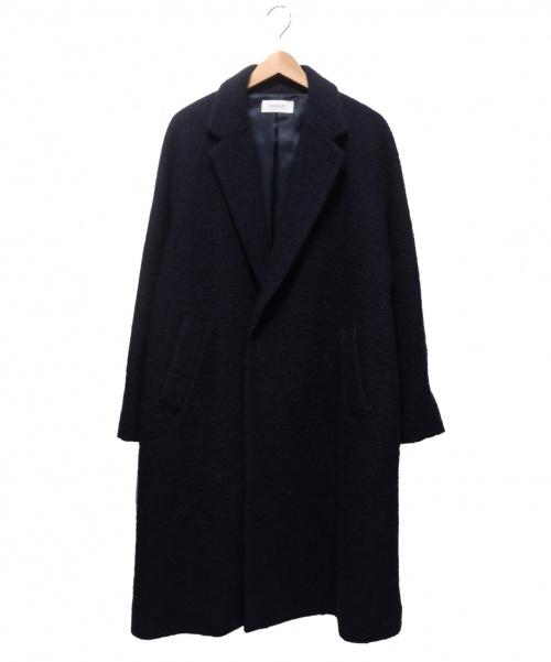 EN ROUTE(アンルート)EN ROUTE (アンルート) ウールエステルスライバーニットガウンコート ネイビー サイズ:1の古着・服飾アイテム