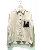 WEIRDO(ウィアード)の古着「W College L/S Shirts」 アイボリー