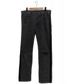 ()の古着「サイドラインデニムパンツ」 グレー×ブラック