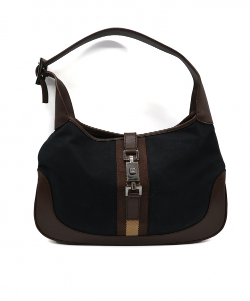 GUCCI(グッチ)GUCCI (グッチ) ジャッキーワンショルダーバッグ ブラック×ブラウンの古着・服飾アイテム