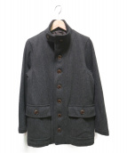 PHERROWS(フェローズ)の古着「ウールヘリンボーンサブマリンコート」|グレー