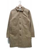 PHERROWS(フェローズ)の古着「ストライプロングカバーオール」|ベージュ