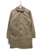 PHERROWS()の古着「ストライプロングカバーオール」|ベージュ