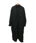 TICCA(ティッカ)の古着「リネンシャツワンピース」|グリーン