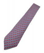 HERMES(エルメス)の古着「総柄ネクタイ」|ネイビー×レッド