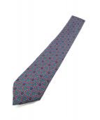 HERMES(エルメス)の古着「総柄ネクタイ」 ブルー×レッド