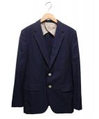 Paul Smith London(ポールスミスロンドン)の古着「シルクブレンドステッチ2Bジャケット」|ネイビー