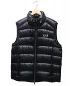 EMPORIO ARMANI EA7(エンポリオ アルマーニ イーエーセブン)の古着「ロゴダウンベスト」|ブラック