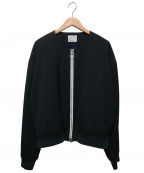 WRAPINKNOT(ラッピンノット)の古着「ノーカラーリングジップジャケット」|グリーン