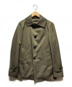 EDIFICE(エディフィス)の古着「ナイロンツイルシンサレートライナーシングルコート」 オリーブ