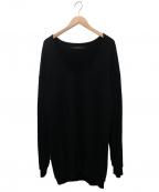 DRESSEDUNDRESSED(ドレスドアンドレスド)の古着「Decortiqueオーバーサイズスウェット」 ブラック