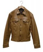VANSON(バンソン)の古着「DJCBレザートラッカージャケット」|ブラウン