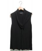 GUCCI(グッチ)の古着「Jersey Draped Neck Detail Slee」 ブラック