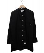 WTAPS(ダブルタップス)の古着「KULTUR LS 02バンドカラーシャツ」|ブラック