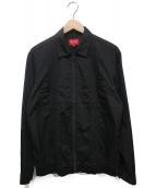 Supreme(シュプリーム)の古着「Pin Tuck Zip Up Shirt」|ブラック