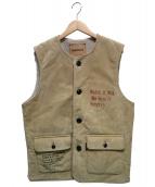 WEIRDO(ウィアード)の古着「Light Ranch Vest」 ベージュ