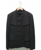tricot COMME des GARCONS(トリコ コムデギャルソン)の古着「90'Sメルトンダブルジャケット」 グレー