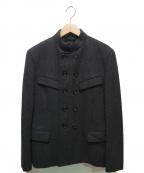 tricot COMME des GARCONS(トリココムデギャルソン)の古着「90'Sメルトンダブルジャケット」 グレー