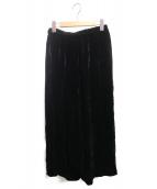 COMME des GARCONS(コムデギャルソン)の古着「ベロアサルエルパンツ」 ブラック