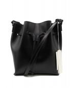 YAHKI(ヤーキ)の古着「レザー巾着ショルダーバッグ」|ブラック