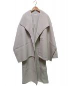 KU-UM(クウム)の古着「ダブルフェイスストールコート」 ベージュ