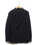 UNITED ARROWS(ユナイテッドアローズ)の古着「UADTフラノダブルジャケット」 ブラック