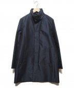 ck Calvin Klein(シーケーカルバンクライン)の古着「ハードメモリーブロックドビー スタンドカラー コート」|ネイビー