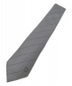 LOUIS VUITTON(ルイ・ヴィトン)の古着「チェック柄ネクタイ」|グレー