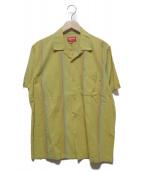 SUPREME(シュプリーム)の古着「Vertical Stripe S/S Shirt」|イエロー