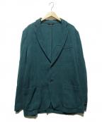 BRIONI(ブリオーニ)の古着「カット地ジャガード2Bジャケット」 グリーン