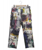 PS Paul Smith(ピーエスポールスミス)の古着「BACKING CLOTH PRINT PANTS」|アイボリー×マルチカラー