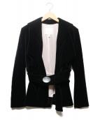 Vivienne Westwood(ヴィヴィアンウエストウッド)の古着「ベルト付ベロアジャケット」|ブラック