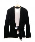 Vivienne Westwood()の古着「ベルト付ベロアジャケット」|ブラック
