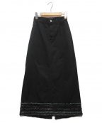 JUNYA WATANABE CdG(ジュンヤワタナベコムデギャルソン)の古着「スパンコール装飾ロングスカート」|ブラック