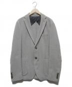 eleventy(イレブンティ)の古着「鹿の子2Bジャケット」 グレー
