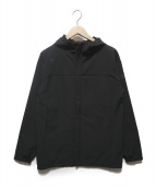 DESCENTE(デサント)の古着「ストレッチフリースフルジップフーディ」 ブラック
