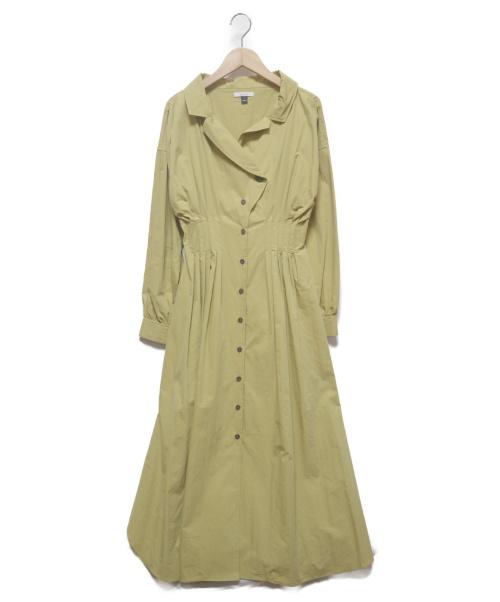 oblekt(オブレクト)oblekt (オブレクト) ミリタリーシャツワンピース イエロー サイズ:FREEの古着・服飾アイテム