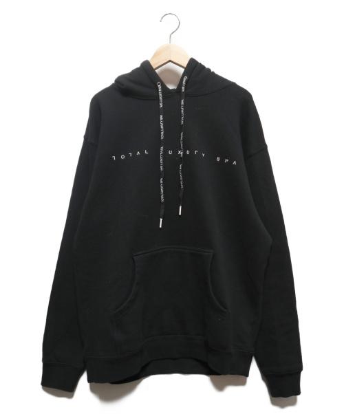 Total Luxury Spa(トータルラグジュアリースパ)Total Luxury Spa (トータルラグジュアリースパ) Open Logo Hoody ブラック サイズ:L 未使用品の古着・服飾アイテム